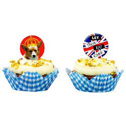These Cupcake Cases and Toppers Will Fit in With the British Theme