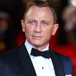 Daniel Craig on the red carpet last night