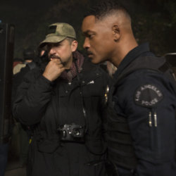 David Ayer and Will Smith behind-the-scenes on Bright / Credit: Netflix