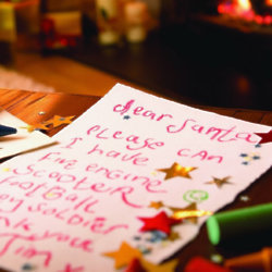 Half of the children in the UK have started their Christmas lists