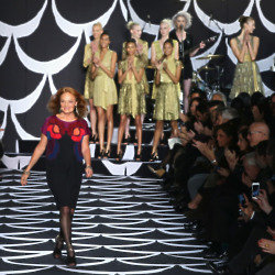 Diane von Furstenberg takes to the runway