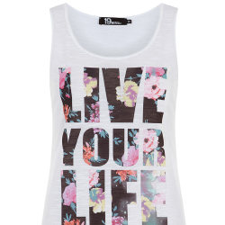 Sleeveless Printed T-Shirt: Designer or Deal?