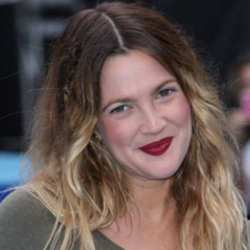 Drew Barrymore sporting Ombre hair
