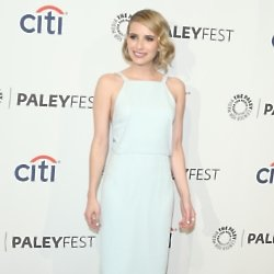 Emma Roberts looks chic in her simple pencil dress