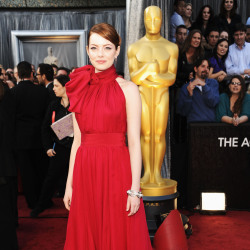 Emma Stone looked beautiful in her bold Giambattista Valli gown