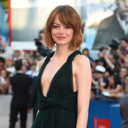 Emma Stone was radiant in her Valentino Couture look