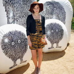 Emma Watson at Coachella last year in a Mulberry playsuit