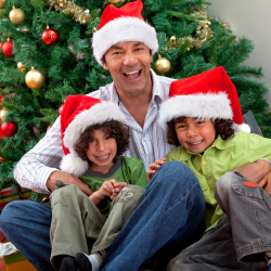 Dads will play the holiday entertainer at Christmas