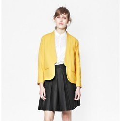 Feather Light Yellow Blazer Jacket at French Connection