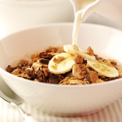 Chocolate Granola with Bananas Recipe
