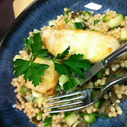 Healthy Recipes: Fillet of Halibut with Giant Couscous