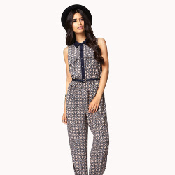 Forever 21 Ornate Sleeveless Jumpsuit