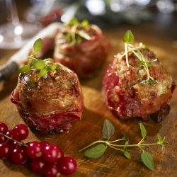 Parma Ham and Olive Meatballs