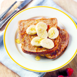 Cinnamon French Toast with Banana & Honey