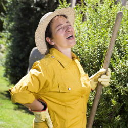Do you suffer from back pain when gardening?