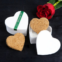 Heart shaped wedding favours