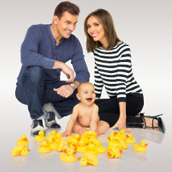 Bill and Giuliana Rancic with baby Duke