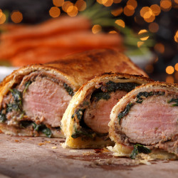 Spiced Pork & Chestnut Wellington Recipe