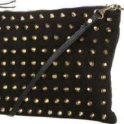 Topshop Gold Stud Clutch