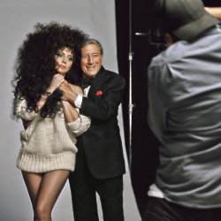 Behind the scenes shot of the H&M Christmas campaign