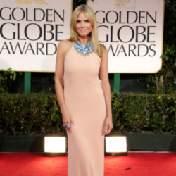 Heidi Klum kept it simple at this year's Golden Globes wearing Calvin Klein