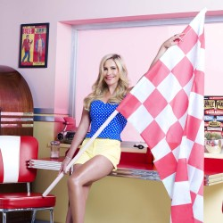 Heidi Range works the fifties style trend