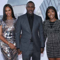 Idris Elba with wife Sabrina Dhowre and daughter Isan Elba / Photo Credit: O'Connor/AFF/PA Images