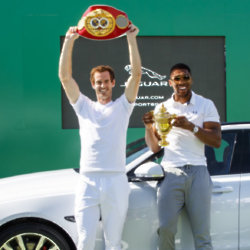 Andy Murray Anthony Joshua Jaguar
