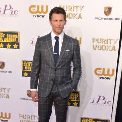 James Marsden looked smart in his plaid suit