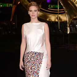 Jennifer Lawrence was of course wearing Dior at the Catching Fire première