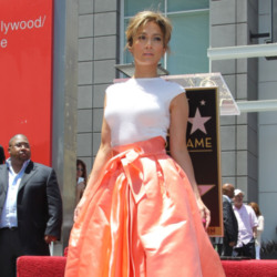 Jennifer Lopez looked beautiful in her Christian Dior full skirt