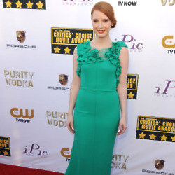 Jessica Chastain stands out in Nina Ricci