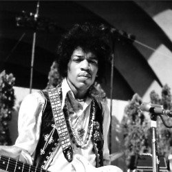 Jimi Hendrix memorabilia was also sold