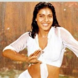 Kajol in movie still a song from the classic 'Dilwale Dulhania Le Jayenge.'