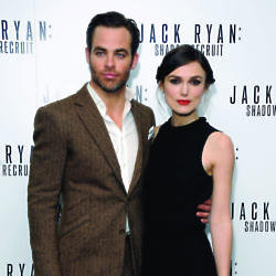Chris Pine and Keira Knightley looked smart at the première