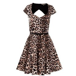 Kelly Brook Animal Print Prom Dress