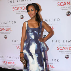 Kerry Washington wears a beautiful Giles dress to launch the Scandal collection