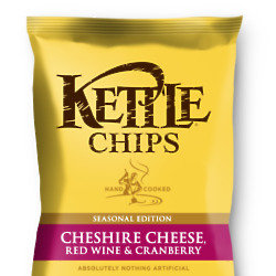 Kettle Chips Cheshire Cheese, Red Wine and Cranberry