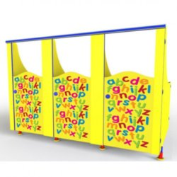 ABC Pattern kid's toilet cubicle