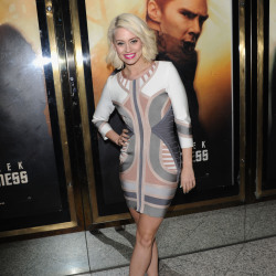Kimberly Wyatt shows off her incredible figure in a bandage dress