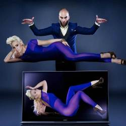 Drummond Money Coutts and Kimberly Wyatt create the Magic of Bravia