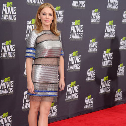 Kylie Minogue wears an unflattering Paco Rabanne dress