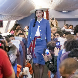 The show featured cabin crew uniforms