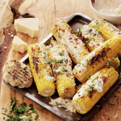 Latin Style Grilled Corn With A Kick