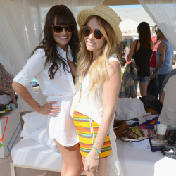 Lea Michele and Lauren Conrad at last year's Coachella