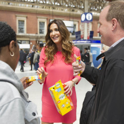 Lisa Snowdon enjoys eating her Bellvita in the morning and on the go