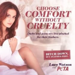 Lucy Watson for PETA by Ruth Rose