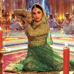 The stunning Madhuri in a classic still from hit movie Devdas.