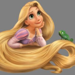 Princess Rapunzel wondering when her period will come!