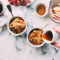 Maple Granola Apple Porridge